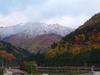 雪化粧した尾白山