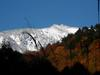雪の三ッ岩岳と紅葉 2010/11/4